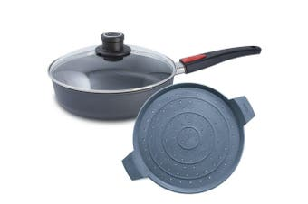 Woll Diamond Lite Induction Saut Pan 28cm and Splatter Guard Set