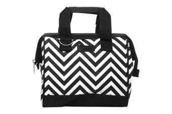 Sachi Insulated Lunch Bag Chevron Black