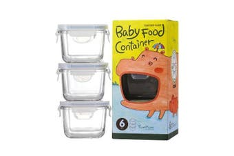 Glasslock Baby Food Container Set 3pc Square 210ml