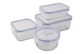 Glasslock Tempered Glass Food Container Set of 4