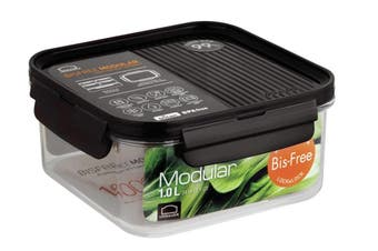 Lock & Lock Bisfree Modular Square Container 1L Dark Brown