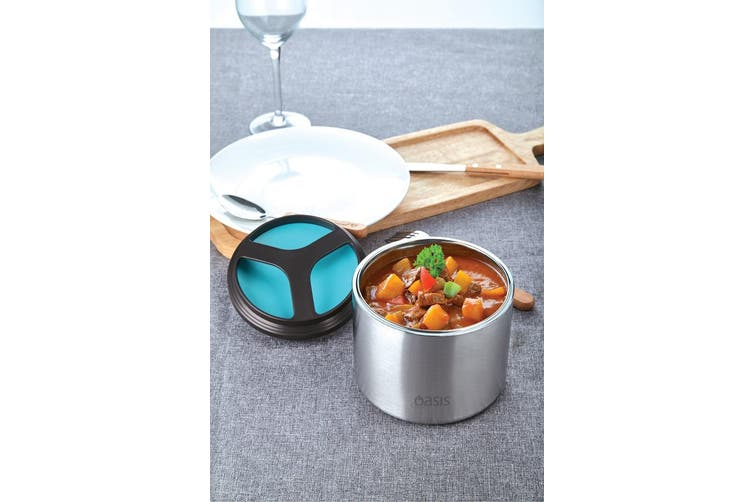 Oasis Stainless Steel Vacuum Insulated Food Container 1L Turquoise