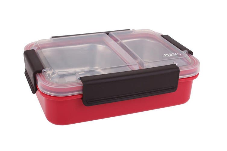 Oasis Stainless Steel 2 Compartment Lunch Box 23cm Watermelon