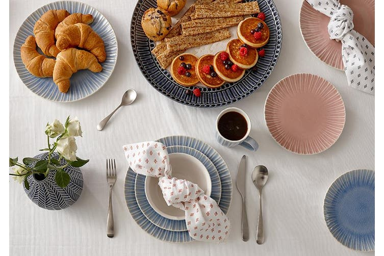 Ladelle Mia Grey Dinner Plate Set of 4