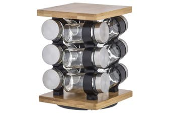 Davis & Waddell Romano Spice Jar with Rack 21cm Set of 12