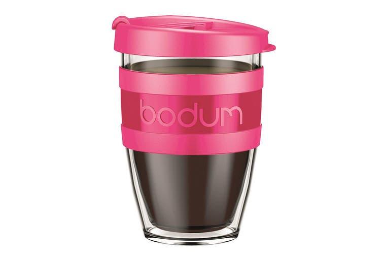 Bodum Joycup Travel Mug 300ml Dark Pink