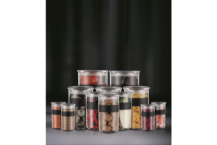 Bodum Presso Storage Jar Set of 12 Black