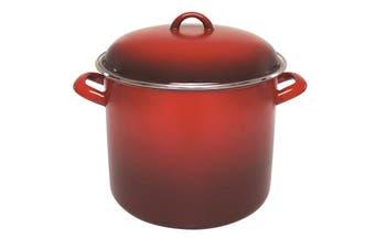 Chasseur Enamel Stock Pot 24x20cm 8.2L Red