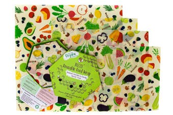 Buzzee Organic Beeswax Wraps Harvest Set of 4