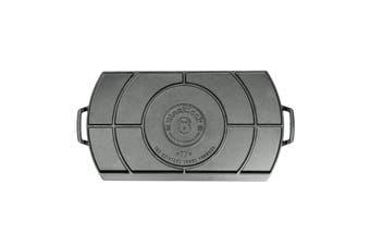 Lodge Blacklock Triple Seasoned Cast Iron Double Burner Griddle 51x25x3cm