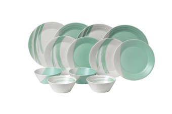 Royal Doulton 1815 Bold Collection Dinner Set of 12 Aqua