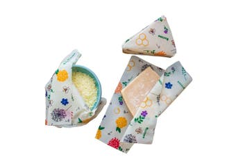 Buzzee Organic Beeswax Cheese Wrap Set of 3 Bees at Work