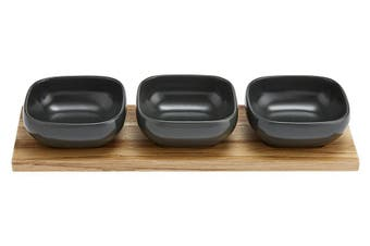 Ladelle Essentials Charcoal Bowl Set of 4