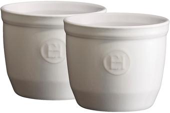Emile Henry Ramekins Set of 2 White Flour 8.5cm