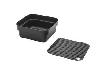 Brabantia Washing Up Bowl with Drying Tray Dark Grey