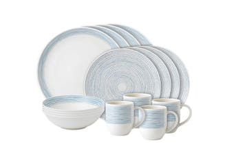 Royal Doulton Ellen DeGeneres Polar Blue Dots 16 Piece Set