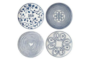 Royal Doulton Ellen DeGeneres Blue Love Accents Side Plate 16cm Set of 4