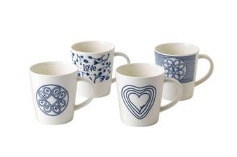 Royal Doulton Ellen DeGeneres Blue Love Accents Mug 475ml Set of 4