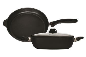 Swiss Diamond XD Classic Casserole 24cm and Frypan 24cm with Glass Lid