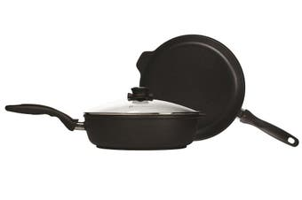 Swiss Diamond XD Classic Saute Pan 28cm and Frypan 28cm with Glass Lid