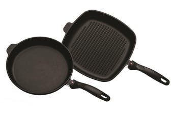 Swiss Diamond XD Classic Grill 28cm and Frypan 28cm