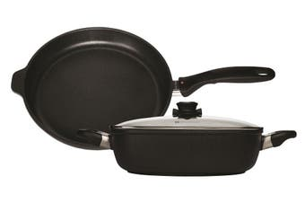 Swiss Diamond XD Induction Casserole 24cm and Frypan 24cm with Glass Lid