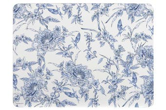 Ashdene Indigo Blue Hummingbird Placemat Set of 4 29cm