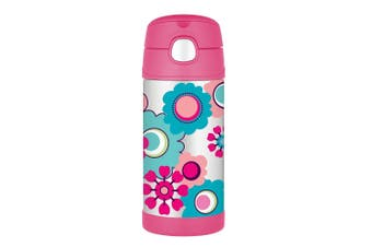 Thermos FUNtainer Stainless Steel Vacuum Insulated Drink Bottle Flower 355ml