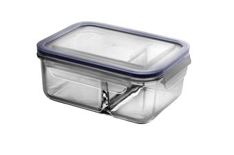 Glasslock Duo Tempered Glass Food Container 1000ml