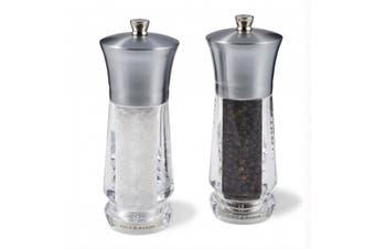 Cole & Mason Exford Salt & Pepper Mills Nickel 16.5cm