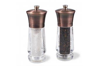 Cole & Mason Exford Salt & Pepper Mills Antique Brass 16.5cm