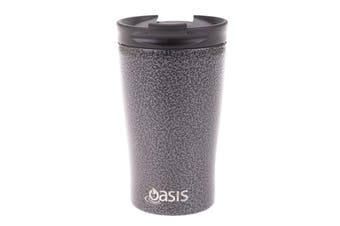 Oasis Stainless Steel  Double Wall Insulated Travel Cup 350ml Hammertone Grey