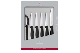 Victorinox Swiss Classic Paring Knife 6 Piece Set Black