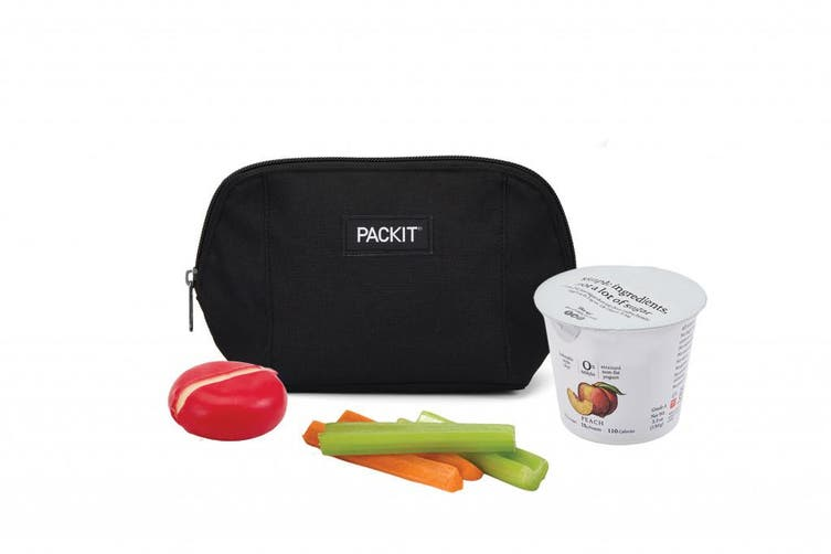 Packit Freezable Snack Bag Black