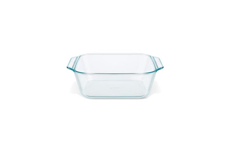 Pyrex Deep Square with Sage Lid 20cm 2L