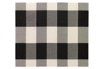 IconChef Plate Mat Set of 6 Black Gingham