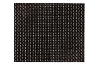 IconChef Plate Mat Set of 6 Black Basketweave