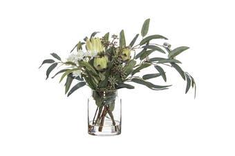 Rogue Native Mix Pail Vase 52cm x 34cm x 40cm Green