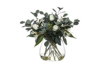 Rogue Protea Eucy Mix Garden Vase 41cm x 41cm x 46cm White