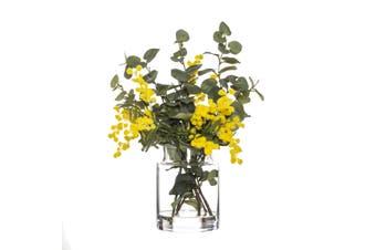 Rogue Wattle Mix Pail Vase 30cm x 27cm x 35cm Yellow