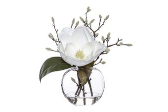 Rogue Magnolia Bud Mix Sphere Vase 23cm x 26cm x 30cm White