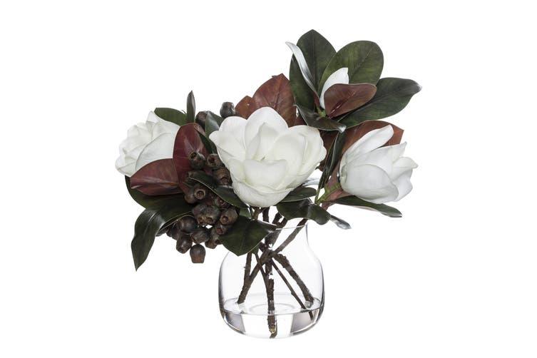 Rogue Magnolia Gum Nut Mix Adina Vase 49cm x 43cm x 49cm White