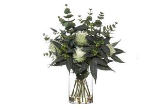 Rogue Banksia Eucy Mix Pail Vase 41cm x 41cm x 56cm White