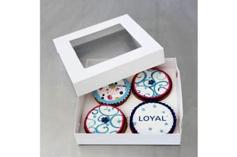 LOYAL Biscuit Box Square 15.5cm x 15.5cm x 3cm Pack of 50