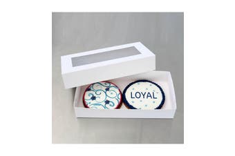 LOYAL Biscuit Box Rectangle 22.5cm x 11.5cm x 4cm Pack of 50