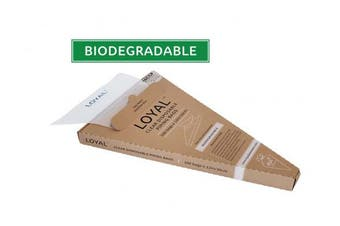 LOYAL Biodegradable Disposable Bags 30cm Clear Pack of 100
