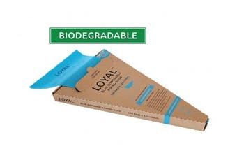 LOYAL Biodegradable Disposable Bags 30cm Blue Pack of 100