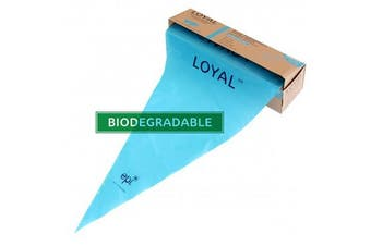 LOYAL Biodegradable Disposable Bags 55cm Blue Pack of 100