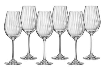 Bohemia Waterfall Wine Glass 350ml Set of 6