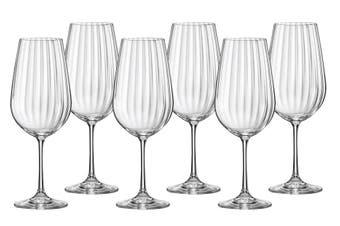 Bohemia Waterfall Wine Glass 550ml Set of 6
